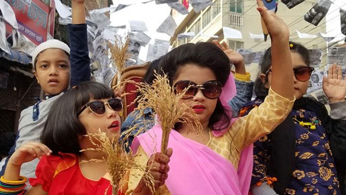 'ছোট্ট খালেদা জিয়া' অংশ নিলো ইশরাকের গণসংযোগে