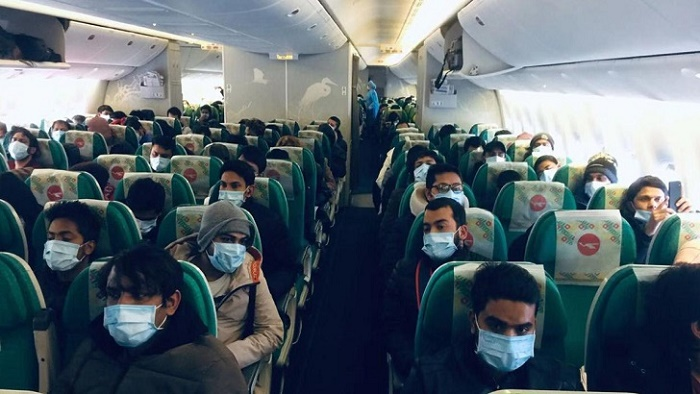 আরও ৩১৬ জন চীন থেকে দেশে ফিরেছেন
