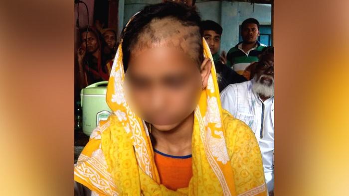 স্বামীসহ পরিবারের লোকজন 'গৃহবধূর মাথার চুল কে'টে দিল'