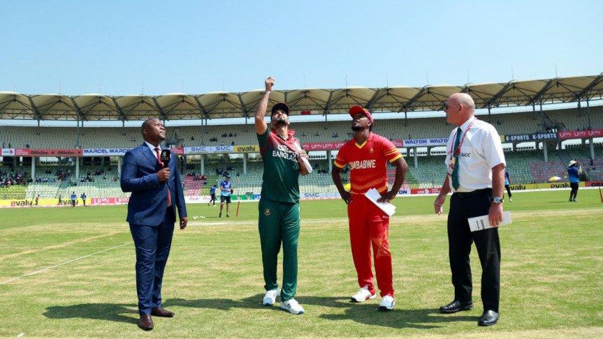 জিম্বাবুয়ের বিপক্ষে টস জিতে ব্যাটিংয়ে বাংলাদেশ