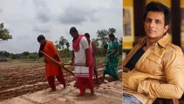 মেয়েদের দিয়ে চাষ করানোয় কৃষককে ট্রাক্টর দিলেন সোনু