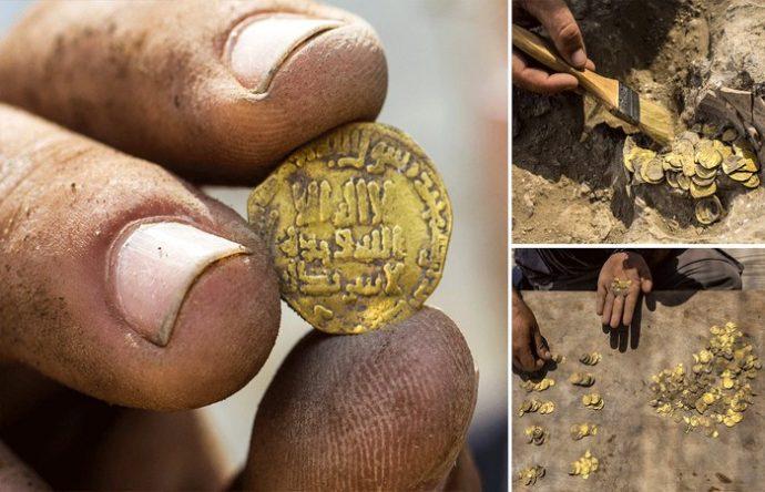 কলস ভর্তি আব্বাসীয় আমলের স্বর্ণ মোহর মিলল মাটি খুঁড়তেই
