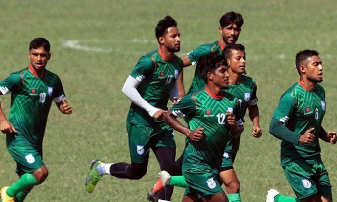 প্রীতি ম্যাচে নেপালের বিপক্ষে ১-০ গোলে এগিয়ে বাংলাদেশ