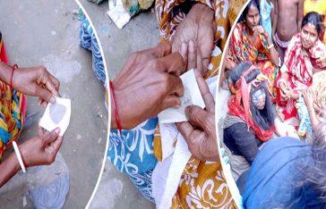টাঙ্গাইলের গ্রামে 'অদ্ভুত' নারী, মাটি-বালু পড়া নিতে ভিড়!