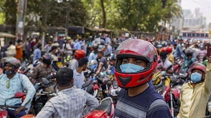 ঢাকায় বিক্ষোভ করলেন মোটরবাইক চালকরা